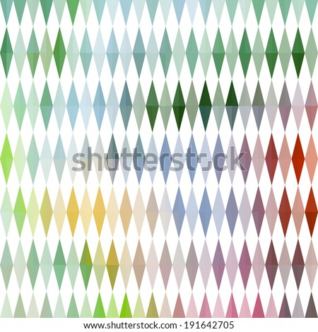 Abstract colorful background with geometric rhombic ornament. Raster version - stock photo