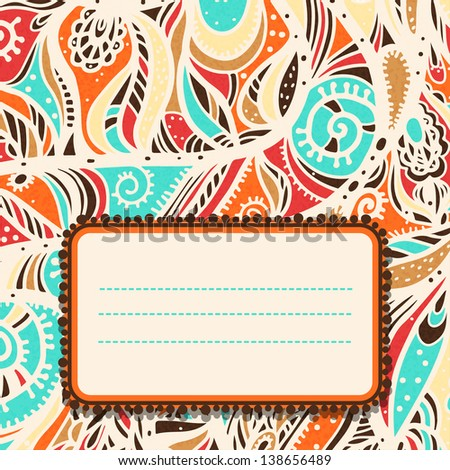 Abstract colorful background with space for text - raster version