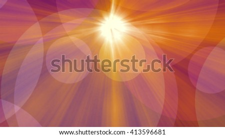 Abstract colorful background with sun rays and bokeh lights - stock photo