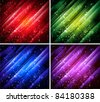 abstract colorful backgrounds set - stock vector