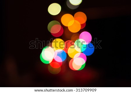 Abstract colorful blur bokeh light background