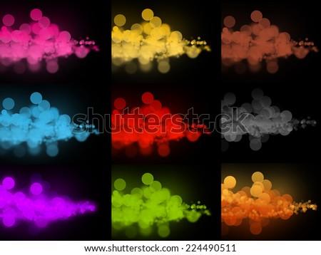 Abstract colorful bokeh circles - stock photo