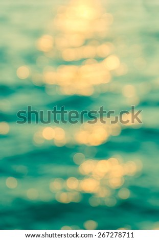 Abstract colorful bokeh of water for background, blurred bokeh. - stock photo