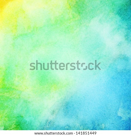 Abstract colorful bright watercolor background - stock photo
