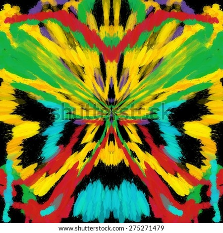 Abstract colorful butterfly painted ornament background pattern - stock photo