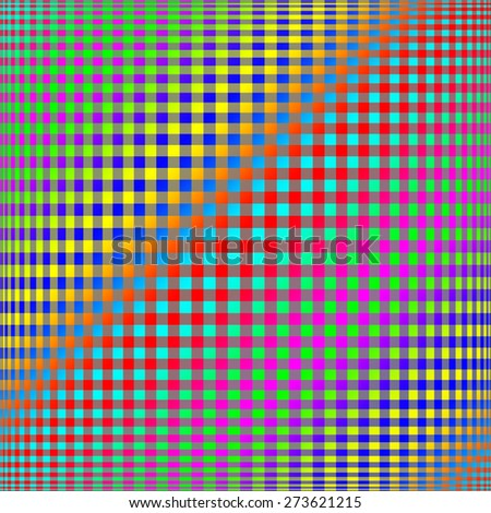 Abstract colorful checkered background - stock photo