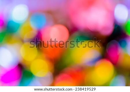 Abstract colorful circular bokeh background. - stock photo