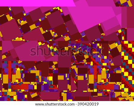 Abstract Colorful  Computer Generated Fractal Artwork - stock photo
