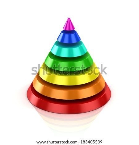 abstract colorful cone  - stock photo