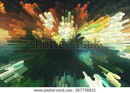 Abstract colorful 3D background - stock photo