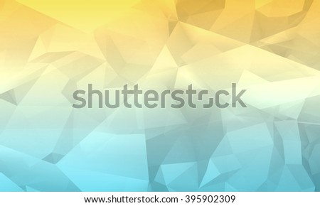 Abstract colorful digital 3d chaotic polygonal background, modern computer graphic pattern useful as a wallpaper - stock photo