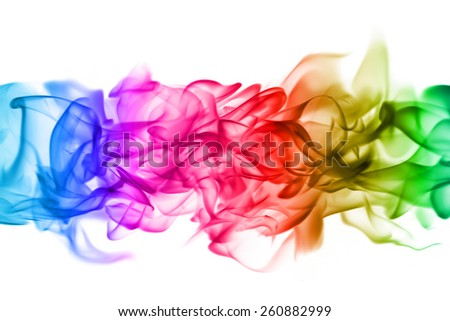Abstract colorful flame  patterns on white background - stock photo