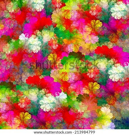 Abstract colorful flowers background - stock photo