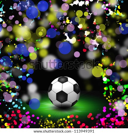 abstract colorful football background illustration - stock photo