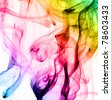 Abstract colorful fume patterns over the white background - stock photo