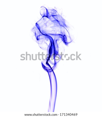 Abstract colorful fume swirls  - stock photo