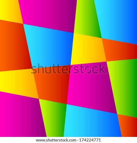Abstract Colorful Geometric Background. Raster Illustration