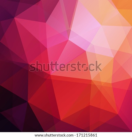 Abstract colorful geometric background - raster version - stock photo