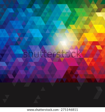 Abstract colorful geometric urban background.   - stock photo