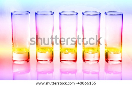 Abstract colorful glasses
