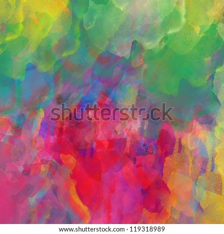 Abstract colorful grunge art watercolor hand paint background - stock photo