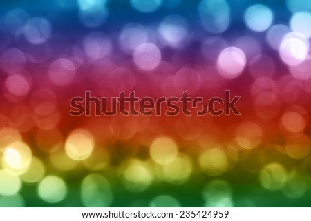 Abstract colorful light bokeh background
