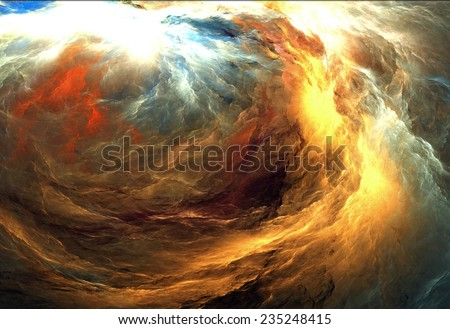 Abstract colorful lightning fractal black background  - stock photo