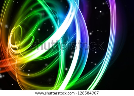 Abstract colorful lines futuristic space background
