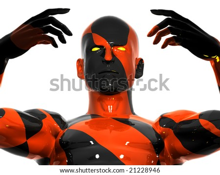 Abstract colorful man - stock photo