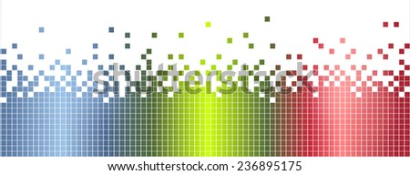 Abstract colorful mosaic banner, background - illustration