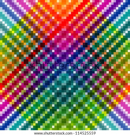 Abstract colorful mosaic pattern. - stock photo