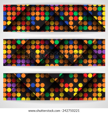 Abstract Colorful Mosaic Pattern Design - stock photo