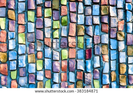 Abstract colorful mosaic texture as background - stock photo