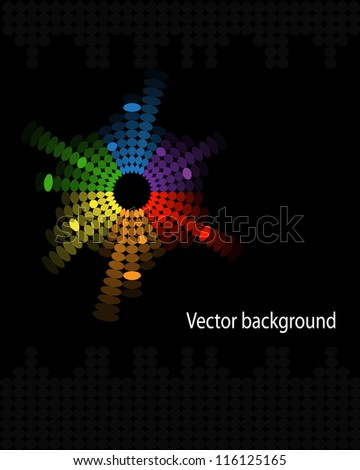 abstract colorful music volume equalizer on black background - stock photo