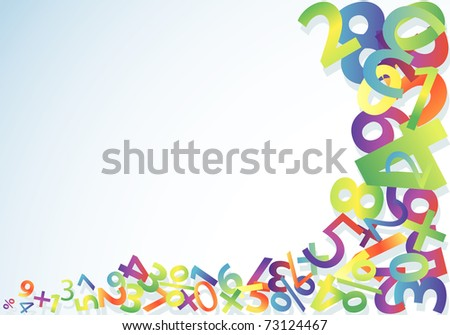Abstract colorful numeric template, element, for design, illustration - stock photo