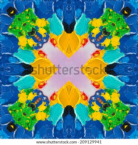 Abstract colorful oil painting - stock photo
