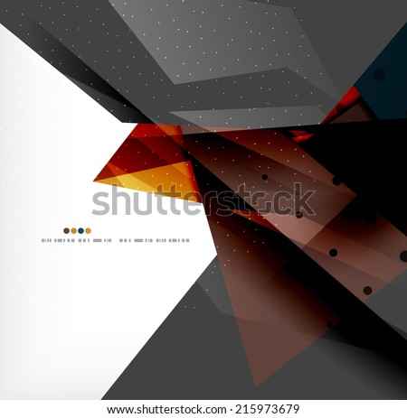 Abstract colorful overlapping shapes 3d composition - stock photo