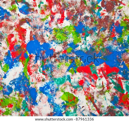 Abstract colorful painting background - stock photo