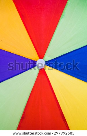 Abstract colorful part of umbrella