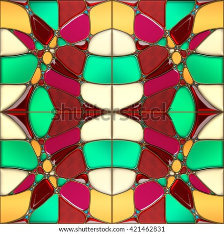 Abstract colorful pattern, color tiles. Abstract art background. Sacred geometry. Kaleidoscope pattern. Gold metal with gemstones. Psychedelic background. Perfect for printing on fabric, texture.