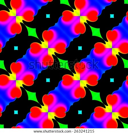 Abstract colorful pattern. Texture background. Seamless illustration. - stock photo