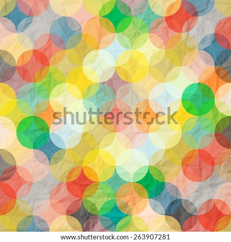 abstract colorful pattern with paper circles   - stock photo