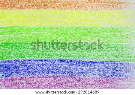 Abstract Colorful Rainbow Flag Color Pencil Painted on Paper Style for Texture Background - stock photo