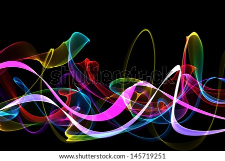 abstract colorful ribbon waves  - stock photo