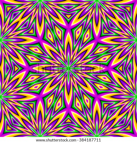 Abstract colorful seamless pattern (motion illusion)