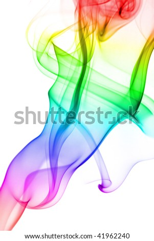 abstract colorful smoke isolated