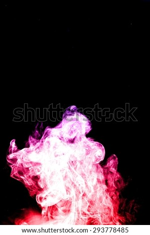 Abstract colorful smoke on black background, smoke background,colorful ink background,red and Blue fire,beautiful color smoke
