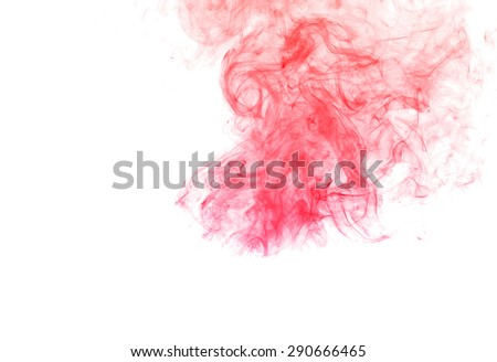 Abstract colorful smoke on white background, smoke background,colorful ink background, red and blue fire