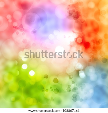 Abstract colorful soft circles background