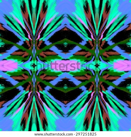Abstract colorful splash painted grainy ornament background pattern - stock photo